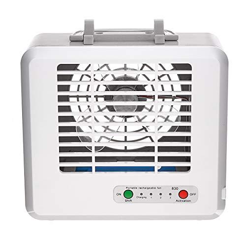 HELIn Desktops USB Mini tragbare Klimaanlage Fan Luftbefeuchter Luftkühlung Fan Luftkühlung Fan für Office Home + Handyhalter -