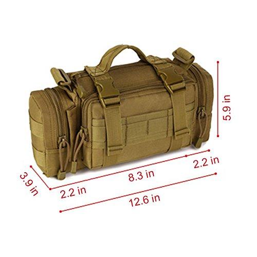 SUNVP Taktische Taille Tasche Brust Tasche Crossbody Umhängetasche Molle Military 3 Way Fanny Pack Tasche für Camping Trekking Wandern Black