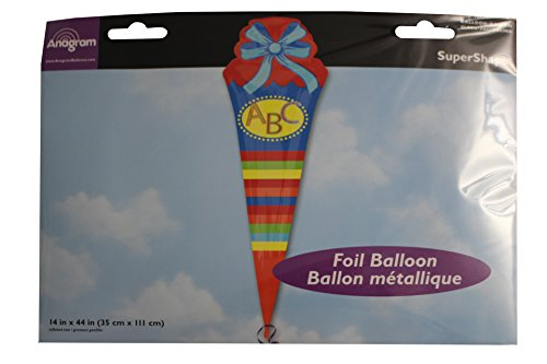 Amscan 3160401 - Folienballon Schultüte, Spiel - 4