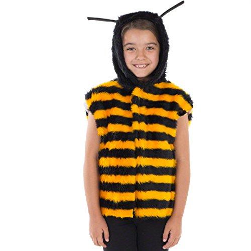 Jugendliche Kostüm Biene Für - Unbekannt Charlie Crow Biene Kostüm Für Kinder - Einheitsgröße 3-8 Jahre.