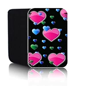 Biz-E-Bee Exclusive 'HEARTS 7' Black KOBO ARC 7, ARC 7 HD inch Shock Resistant Neoprene Tablet Case, Cover, Pouch