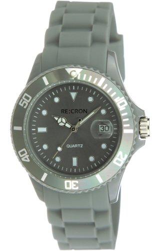 Graue RE:CRON Unisex Armbanduhr Analog Uhr // verschiedene Farben wählbar