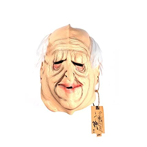 hyalinität & Dora Latex Fashion Cosplay Maske und Film Thema Maske für Halloween Masquerade Party (Old Man Maske)