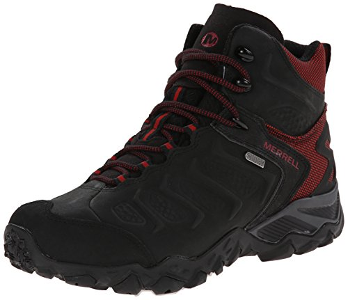 Merrell Chameleon Shift Mid Gore-Tex®, Men's Trekking and Hiking Boots Schwarz (Black/Red)