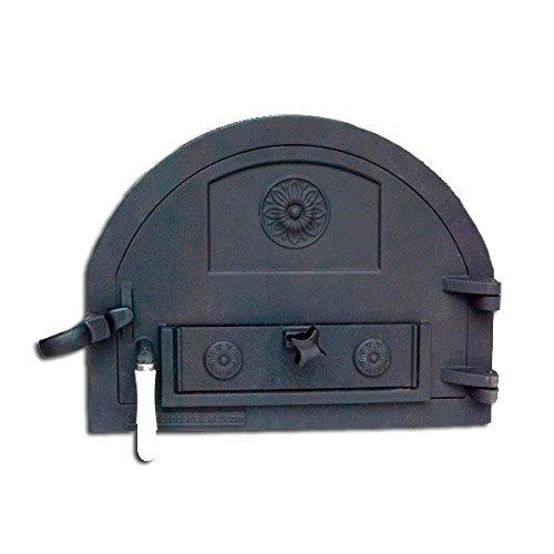 Puerta de fundición para horno de leña de tamaño reducido (peso: 16 Kg)
