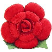 lanfire rosa almohada Big flor cojín para sofá casa coche decoración juguete de peluche los amantes de los regalo, algodón, Rojo, 30 cm