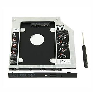 ucec Festplatte Caddy Tray 9,5 mm Universal SATA 2 nd HDD HD SSD Gehäuse Festplatte Caddy Fall Tablett, für 9,5 mm Laptop CD/DVD-ROM Optical Bay Drive Slot (für SSD und HDD), MacBook und MacBook Pro