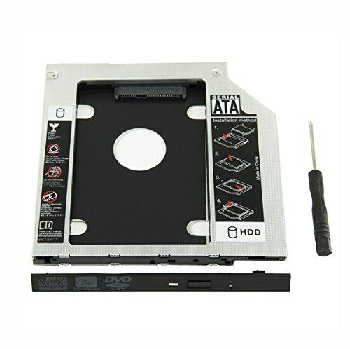 UCEC Bahía Universal de disco duro ODD SSD Hard Drive Caddy 9,5mm Ba´hia Portátil de CD/DVD-ROM para Notebooks, Computadoras Macbook, Macbook pro, HP SONY, ACER, IBM ,ASUS, Fujitsu, Toshiba etc
