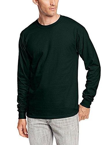 Adult Beefy-T Langarm T 2Pk_Deep Forest_L (Hanes Langarm-t-shirts Für Männer)