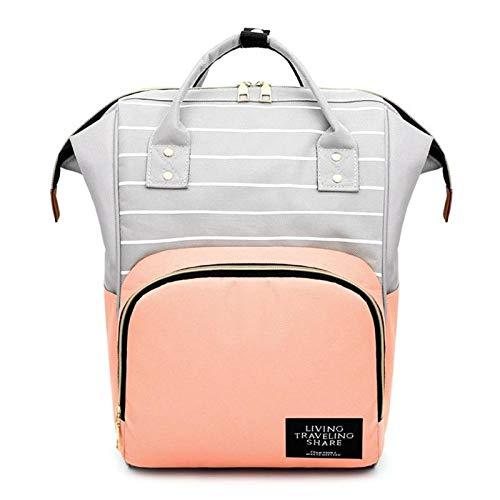 7 farben mode mama mutterschaft windeltasche große kapazität baby reisetasche rucksack desinger pflegetasche für babypflege veranstalterrosa