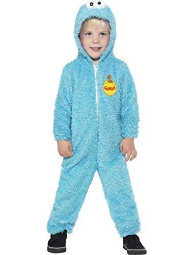 Bambini, motivo: Sesame Street Cookie Monster-Tuta intera da cartone TV Costume