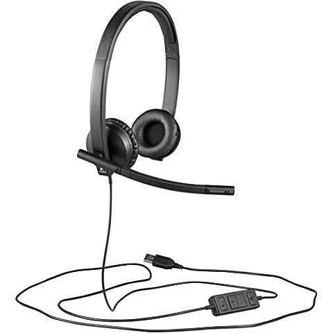Logitech H570E Cuffie USB Stereo,
