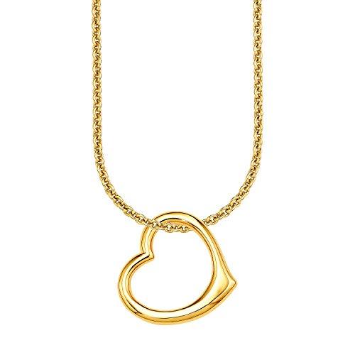 sOliver-Damen-Kette-mit-Anhnger-925-Silber-teilvergoldet-50900
