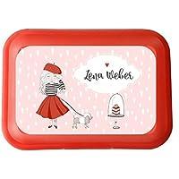 wolga-kreativ Brotdose Lunchbox mit Name Mädchen Paris und Wunschname mit Trennsteg Viele Motive preisvergleich bei kinderzimmerdekopreise.eu