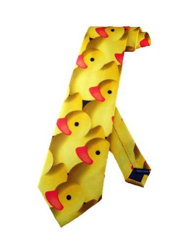 Steven Harris Männer Gummiente Krawatte - gelb - Einheitsgröße