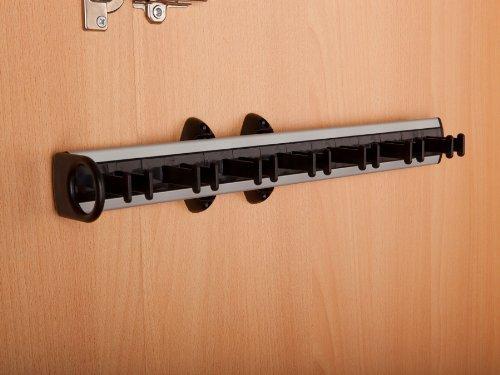 SO-TECH® Black-Line Gürtelhalter ausziehbar, links und rechts verwendbar, BxTxH=450x78x81 mm