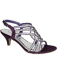 YNEZ - Zapatos con correa de tobillo mujer