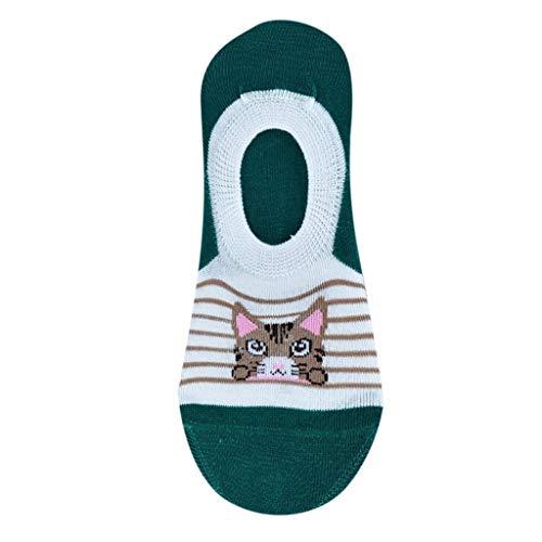 QUINTRA Socken 1 Paar Frauen Cartoon Komfortable Streifen Söckchen Baumwolle Socke Hausschuhe Kurze Socken