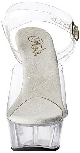 Pleaser Del608/C/M, Sandali da Donna Giallo(Clr/Clr)