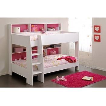 lit superpos s jelle 90x190 princesse lit mezzanine lilokids blanc laqu avec rideau et. Black Bedroom Furniture Sets. Home Design Ideas