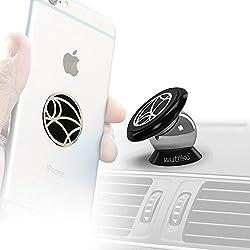 WUTEKU Telefon-Halter für das Auto, 100% universelles und magnetisches Armaturenbrett-Montage-Kit Fahrzeuge, Handys und Tablets | iPhone X, 8, 7, Galaxy S8,S7| 2Scheiben & Platte