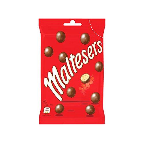 Maltesers Maxi Sachet de Billes de Chocolat au Lait/Cœur Soufflé - Lot de 3