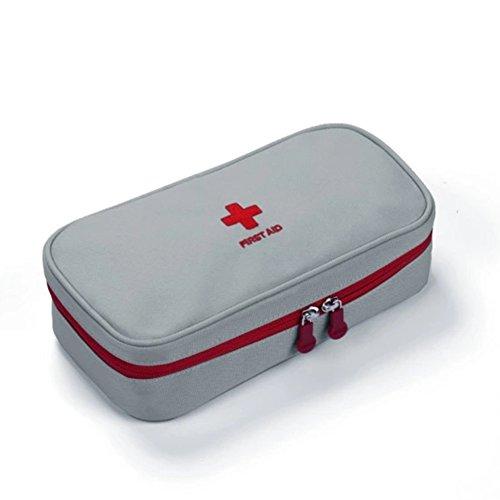 Erste Hilfe Set,Lifesport Erste-Hilfe-Koffer First Aid Kit Notfalltasche Oxford Medizinisch Tasche Klein kompakt Perfekt Design für Haus Auto Camping Jagd Reisen Natur und Sport (Kaltgrau)