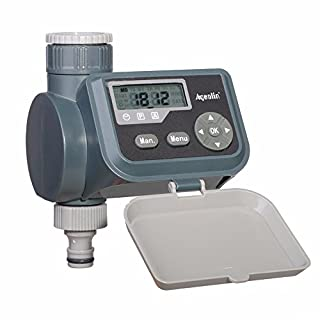 Aqualin Garden Irrigation Controller Waterproof LCD Screen Solenoid Valve Watering Timer for Faucet