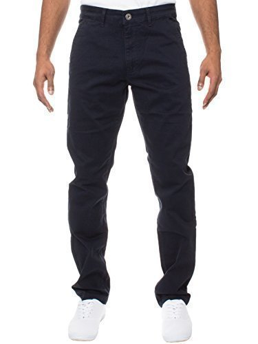 ENZO Uomo Design Modello Affusolato ELASTICIZZATO Pantaloni