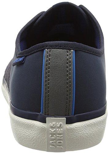 Jack & Jones Jjturbo Pu Nylon Sneaker Navy Blazer, Baskets Basses homme Bleu - Blue (Navy Blazer)