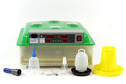 Inkubator VOLLAUTOMATISCH BK48ProActive Modell 2018 + aktivem Luftbefeuchter + Zubehör, 48 Eier, Brutautomat, Brutmaschine