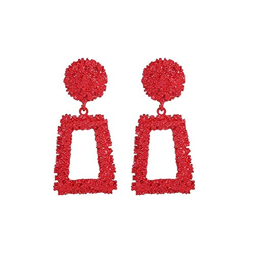 Yvelands Ohrringe Geometrische Trapez Ohrringe Lange Metall Ohrringe ()