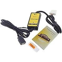 Cable de reproductor de MP3 para automóvil, kit adaptador de cable auxiliar para auto Cable de interfaz de adaptador de audio por radio 12-24 V Ajuste para Mazda 3 / CX7 / 323 / MX5 CX-7 - Entrada de entrada de 3,5 mm