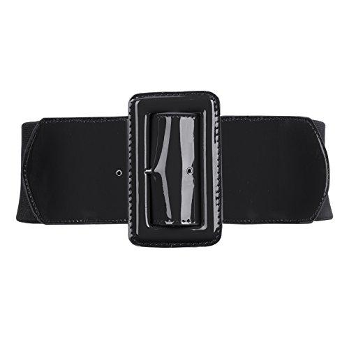 GRACE KARIN Donna Casual Cintura Vita Alta Moda PU Cintura Elastica Regolabile