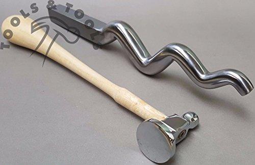 Set der poliert sinusförmigen dem Spiel 22,9cm mit Flach Jagen Hammer Schmuckherstellung