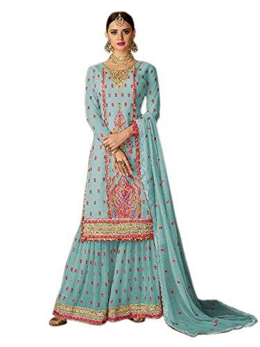Shoppingover New Collection Party wear Designer Salwar Kameez for women Punjabi Suit-Blue...
