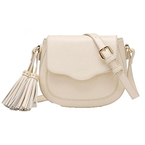 WU Zhi Dame Packet New Mini Tassel Bag Sattel Tasche Schulter Messenger Bag Beige