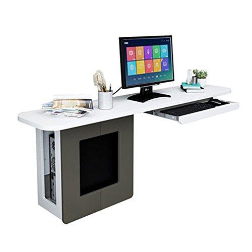 Liegen MAZHONG Hölzerne kleine Computer-Schreibtisch-PC-Laptop-Arbeitsstation, die Tastatur-Behälter und Lagerregal schiebt (Farbe : Natürlich, größe : 1.5M) - Liege Schreibtisch