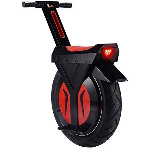 ZDDOZXC Elektrisches Einrad, intelligentes Drift-Auto, Roller, Gewichtskapazität 265 Pfund, 17-Zoll-Reifen, das ganze Auto wiegt nur 55 Pfund, 90 km, Schwarz / Weiß, 30 km Schwarz