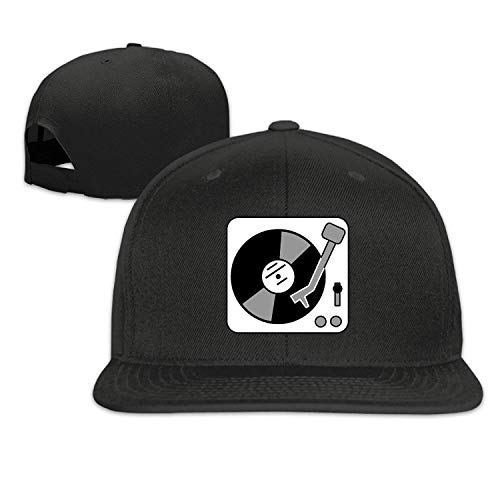 Hat Turntable Music Vinyl Record Dj Strapback Hats Flat Cap ()