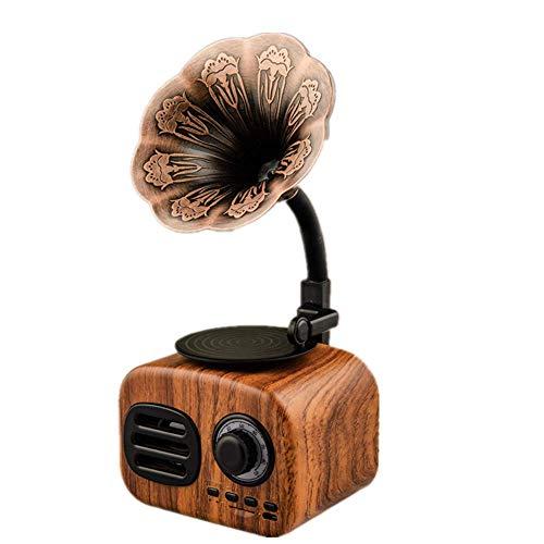 Altavoz Bluetooth, Altavoz Retro Inalámbrico Bluetooth 4.1, Sonido, Micrófono Incorporado, Tiempo De...