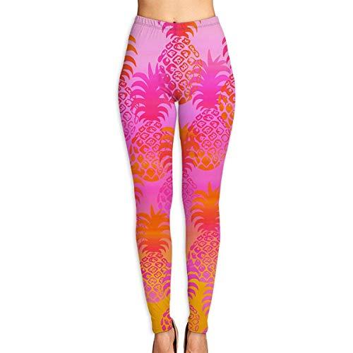 VAICR NCRSPIC Strumpfhosen Hosen,Personalized Hawaiian Pineapple Sunset Women's Printed Leggings Pants For Sports Yoga Workout Gym Running -