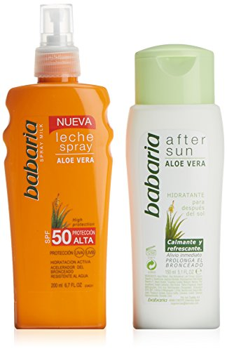 Babaria Leche Solar Aloe Vera UVA SPF 50, 200ml + After Sun, 150ml