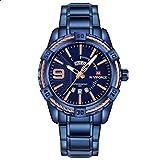 NaviForce NF9117N Men's Sport Stainless Steel Wrist Quartz Watch - Blue