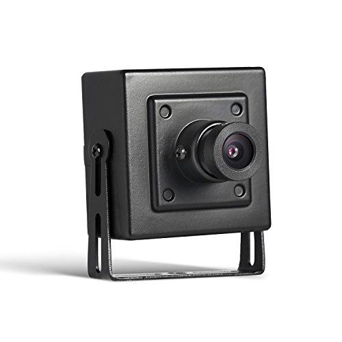 Revotech® - poe hd 1920 x 1080p 2.0mp interno ip telecamera mini tipo di protezione metallica telecamera di videosorveglianza onvif p2p cctv cam (i706-p nero)