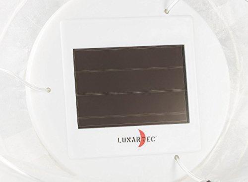 Lunartec Solar Laternen Lampions: Solar-LED-Lampion, Dämmerungs-Sensor, IP44, warmweiß – 3er-Set - 7