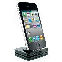 Kitsound Idock Multi Dock per Ricarica, Trasferimento Dati e Audio, Compatibile con iPhone 3/3G/3Gs/4/4S e iPod, Nero