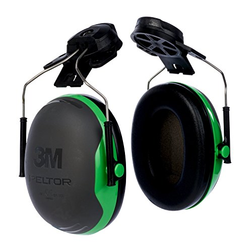 3M PELTOR X1P3 Orejeras para casco con anclaje P3E 26db (1 orejera/caja), verde