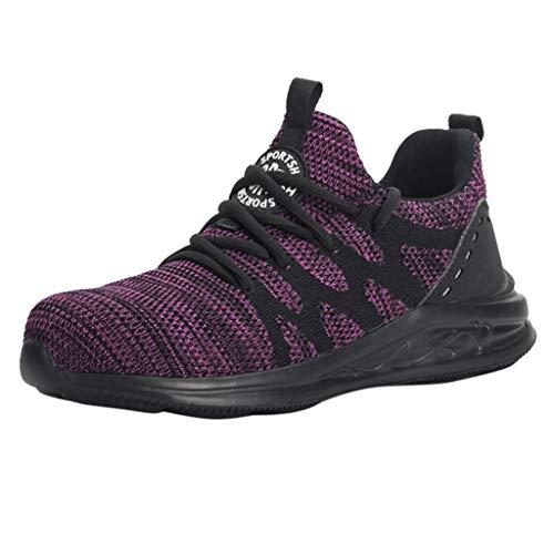 Bellelove-Schuhe Sicherheitsschuhe Herren Damen Arbeitsschuhe S3 Leicht Sportlich Atmungsaktiv Schutzschuhe Stahlkappe Sneaker