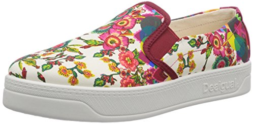 Desigual SHOES ABRIL, Low-Top Sneaker donna, Rosso (Rot (3037)), 39